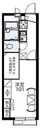 愛知県みよし市打越町三本松の賃貸アパートの間取り