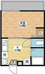 modern palazzo扇町[3階]の間取り