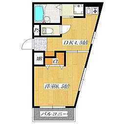 ハイネス14[2階]の間取り
