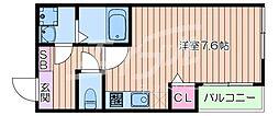 Osaka Metro谷町線 千林大宮駅 徒歩7分の賃貸アパート 3階ワンルームの間取り