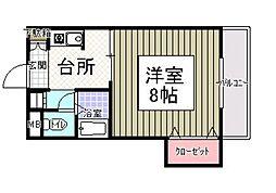 サンシャイン田代II[213号室]の間取り