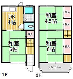 [一戸建] 大阪府東大阪市俊徳町1丁目 の賃貸【/】の間取り