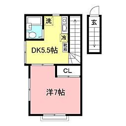 武蔵野レジデンス[2階]の間取り
