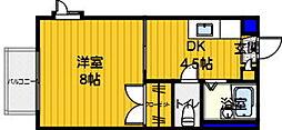 ソレイユ西片江 A[101号室]の間取り