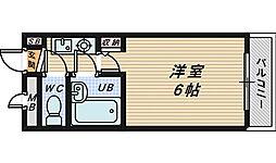 大阪府堺市堺区中向陽町1丁の賃貸マンションの間取り