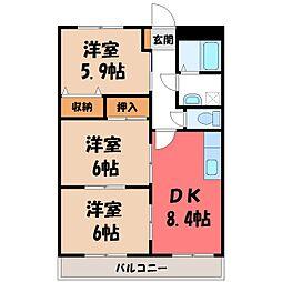 ヴァンベール 1[1階]の間取り