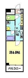 JR横浜線 八王子みなみ野駅 徒歩13分の賃貸マンション 1階1Kの間取り