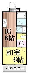 東京都大田区西六郷4丁目の賃貸マンションの間取り
