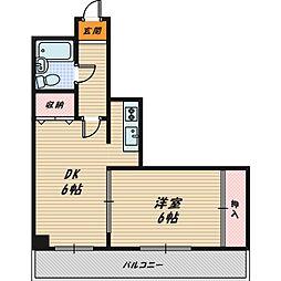 ヤマサ第四古市マンション[6階]の間取り