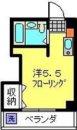 神奈川県横浜市港北区箕輪町3丁目の賃貸マンションの間取り