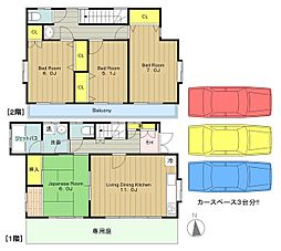 [一戸建] 東京都八王子市越野 の賃貸【東京都 / 八王子市】の間取り