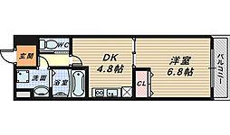 エスポワール長曽根[2階]の間取り