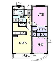 愛知県岡崎市井内町字下河原の賃貸マンションの間取り