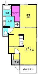 ディアコート二見Ⅱ[1階]の間取り