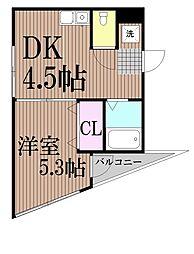 東京都品川区戸越6丁目の賃貸マンションの間取り