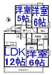 ハイツボナール6[3階]の間取り
