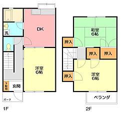 神奈川県平塚市横内の賃貸アパートの間取り