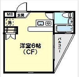 神奈川県横浜市青葉区新石川3丁目の賃貸マンションの間取り