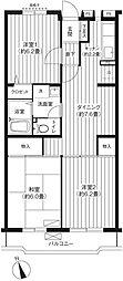 東京都杉並区本天沼3丁目の賃貸マンションの間取り