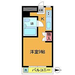 シャンテ津田沼 B[203号室]の間取り