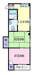 ライズ・ワン南新町[3階]の間取り