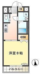 愛知環状鉄道 愛環梅坪駅 徒歩14分の賃貸マンション 1階1Kの間取り