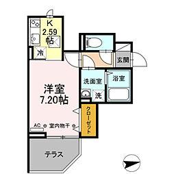 JR総武線 新小岩駅 徒歩3分の賃貸アパート 1階1Kの間取り