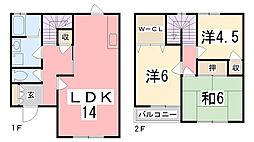 [テラスハウス] 兵庫県姫路市御立東4丁目 の賃貸【兵庫県 / 姫路市】の間取り