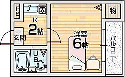 JPアパートメント枚方[4階]の間取り