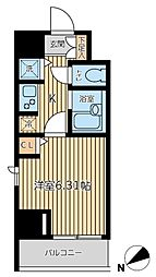 KWレジデンス新富町[9階]の間取り