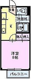 長野県飯田市高羽町6丁目の賃貸アパートの間取り