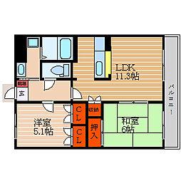 滋賀県犬上郡多賀町大字多賀の賃貸マンションの間取り