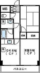 神奈川県川崎市高津区坂戸2丁目の賃貸マンションの間取り