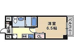大阪府大阪市天王寺区東上町の賃貸マンションの間取り