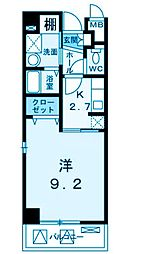 グレース高田[3階]の間取り