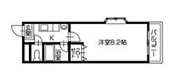 徳島県徳島市西船場町3丁目の賃貸マンションの間取り