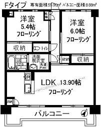 光第6ビル[6階]の間取り