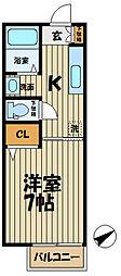 インプレス鎌倉II[203号室]の間取り