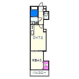 南海線 石津川駅 徒歩3分の賃貸アパート 2階1DKの間取り