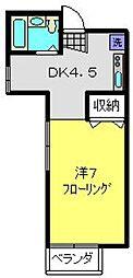 神奈川県横浜市南区堀ノ内町2丁目の賃貸アパートの間取り