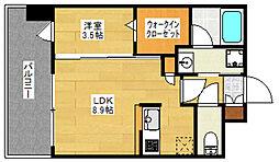 エンクレスト博多PREMIER[7階]の間取り