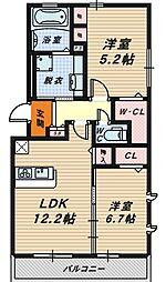クレッセント・スクエアI・II[1階]の間取り