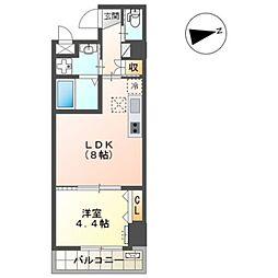 Osaka Metro御堂筋線 新金岡駅 徒歩14分の賃貸マンション 3階1LDKの間取り
