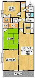 愛知県豊田市日南町1丁目の賃貸マンションの間取り