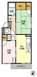 ファミーユIT[2階]の間取り