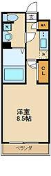 小田急小田原線 祖師ヶ谷大蔵駅 徒歩9分の賃貸マンション 4階1Kの間取り