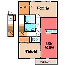 シヅグランツ B[2階]の間取り