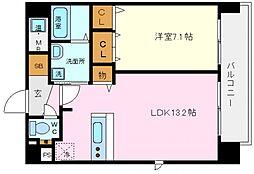 ラベニール 4階1LDKの間取り