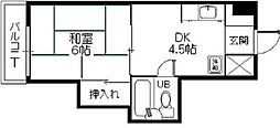 ロリエマンション筥松[707号室]の間取り