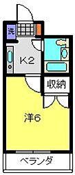 アジュール片倉[202号室]の間取り